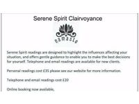121, phone and email psychic, tarot and clairvoyance readings from £3