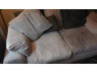 3 seater sofa,, cream corduroy