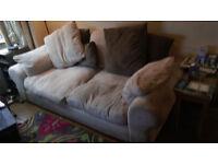 3 seater sofa cream corduroy