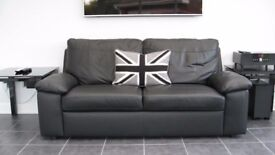 black leather 'Logan' sofa x 2 (will sell separately)