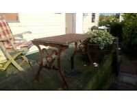 Solid cast iron table