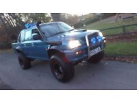mitsubishi l200 crew cab pick up mini monster truck 35inch tyres new lights rock solid