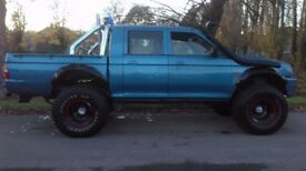 mitsubishi l200 crew cab pick up mini monster truck 35inch tyres lifted 4x4 of rd on rd