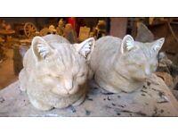 Garden Ornament Sleeping Cats