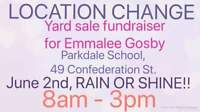 LOCATION CHANGE! Fundraiser for Emmalee Gosby