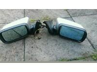 Bmw e46 series facelift silver electric wing mirrors