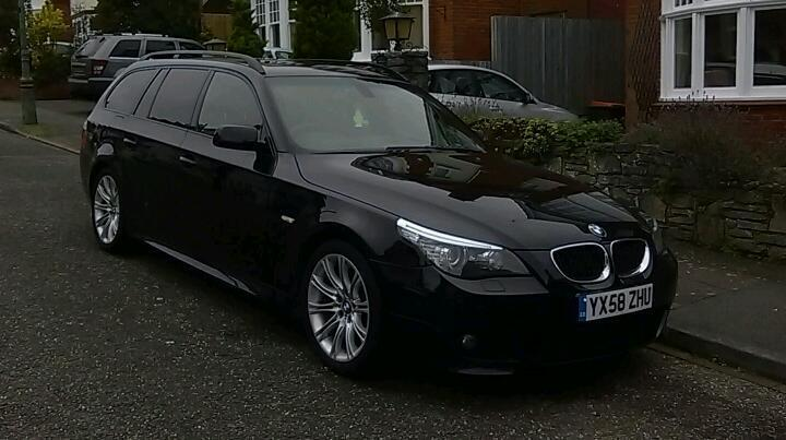 bmw 520d touring e61 lci facelift 177 2008 58 plate in. Black Bedroom Furniture Sets. Home Design Ideas
