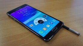 Samsung Note 4, Black, sim free. VGC.