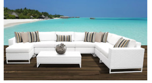 9 morceaux set de sofa ext en rotin Neuf / New 9 pcs patio set