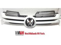 VW GOLF MK5 2004 - 2008 FRONT GRILLE MAIN CENTRE PRIMED WITH BADGE