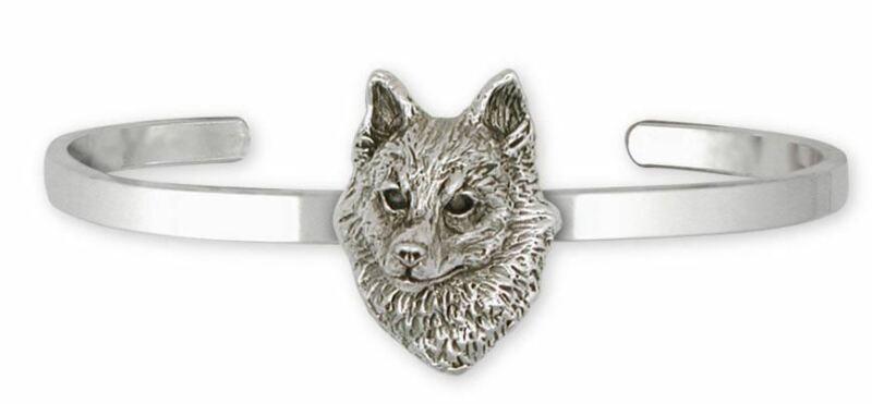 Schipperke Jewelry Sterling Silver Schipperke Bracelet Handmade Dog Jewelry SK-C
