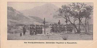 Deutsch-Südwestafrika DSWA Militär Ramansdrift Begräbnis Foto Zeitung von 1911