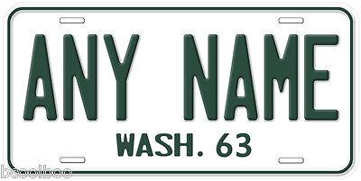 Washington 1963-1985 Any Year Name Novelty Car License - New Year Novelties