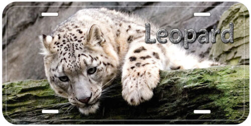 Snow Leopard Any Name Personalized Car Auto Novelty License Plate