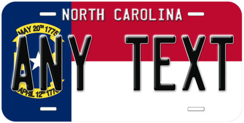 North Carolina State Flag Personalized Novelty Car License Plate
