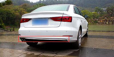 For Audi A3 8V 2012 2015 Sedan Stainless Steel Rear Bumper Molding Cover Trim