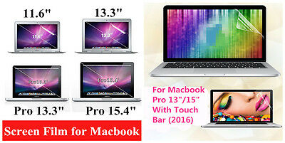 "Clear Screen Protector Skin Film for Macbook Air 11.6"" Pro Retina 13.3"" /15.4"""