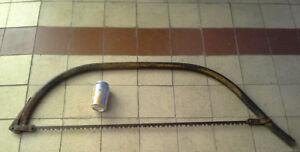Scie à main / Vintage bow saw / GRANDE scie à bois antique