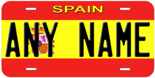 Spain Flag Any Text Personalized Novelty Car License Plate