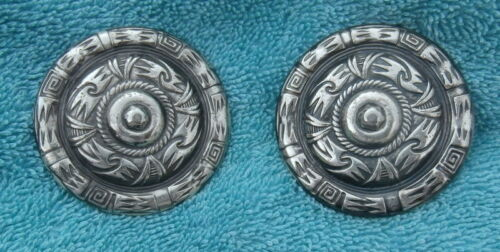 2 Silver Southwest Pattern 2 in. Conchos for Bridle or Spur Straps