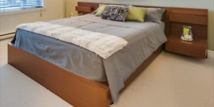 Lit '' MALM '' Bed- Queen size