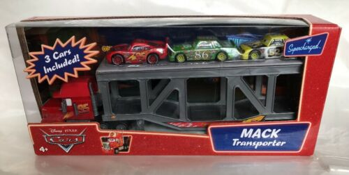 New Disney Pixar Cars Supercharged Mack Transporter W 3 Cars Included!