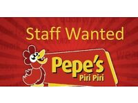 Cashiers, Kitchen Staff and Delivery Drivers wanted