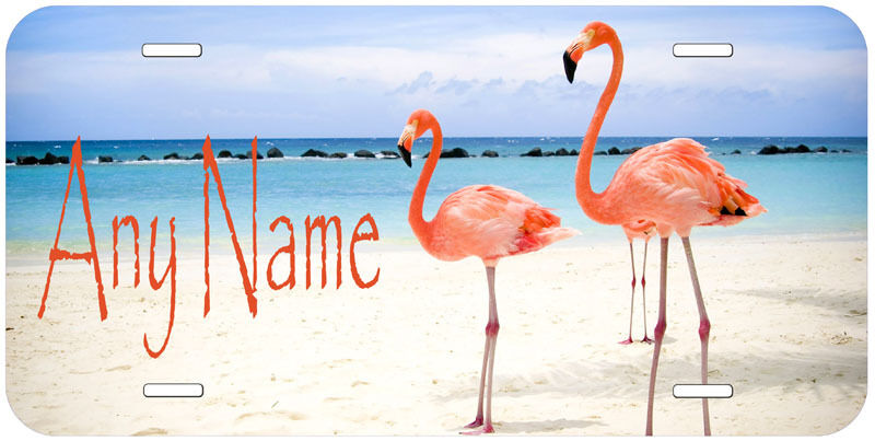 Flamingo Personalized Any text Novelty Car License Plate A02