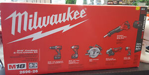 FOUR BRAND NEW MILWAUKEE TOOLS KITS!