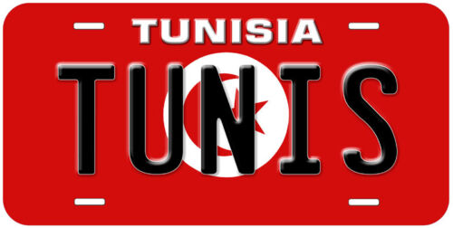 Tunisia Flag Any Name Personalized Novelty Car License Plate