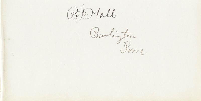 BENTON J. HALL - SIGNATURE(S)
