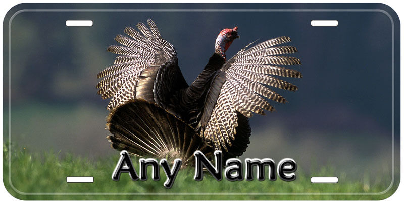Turkey Bird Aluminum Personalized Novelty Car Auto License Plate