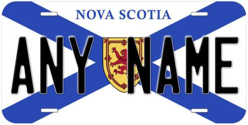 Nova Scotia Flag Canada Any Name Novelty Car License Plate