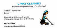 C-Way Cleaning - Housekeeping/Housecleaning/Apartments/Offices