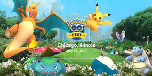 UPDATE: 2 Pokemon Go Fest Tickets