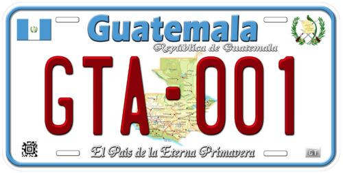 Guatemala Aluminum Any Text Personalized Novelty Car License Plate