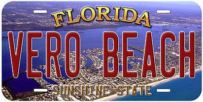 Vero Beach Florida Aluminum Novelty Car Auto License - Beach Novelties