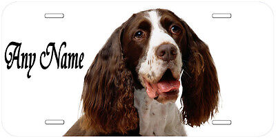 English Springer Spaniel Personalized Any Name Novelty Car License Plate A1
