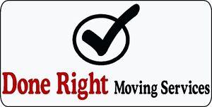 Done Right Moving Services (613)323-4074