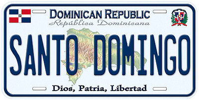 Dominican Republic Aluminum Any Name Personalized Novelty Car License Plate
