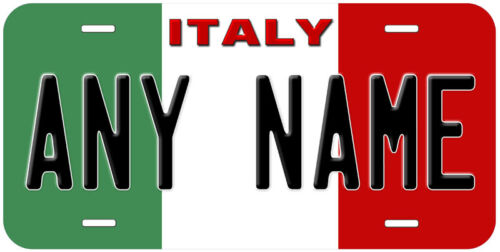Italy Flag Any Name Personalized Novelty Car License Plate