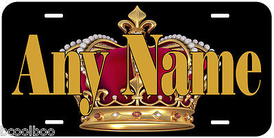 King Crown Any Name Personalized Aluminum Novelty Car License Plate A02 - Novelty Crown