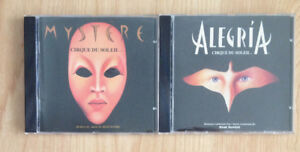 Lot of 2 Cirque du Soleil CDs - Mystere & Alegria