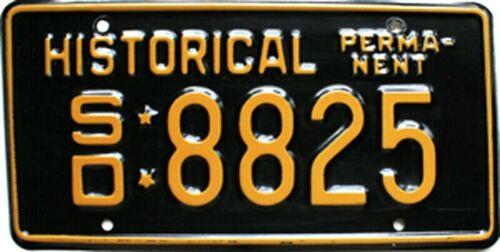 1990 South Dakota Historical Permanent license plate # 8825