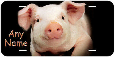 Pig Black Any Name Personalized Novelty Auto License (Personalized Pig)