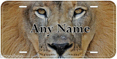 Lion Aluminum Any Name Personalized Novelty Car License Plate