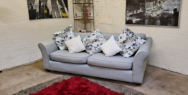 M&S Abbey Range 4 Seater Fabric Sofa With Reversible Scatter Cussions