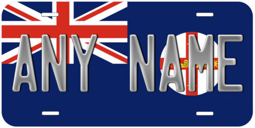 New South Wales Australia Flag Any Name Novelty Car License Plate
