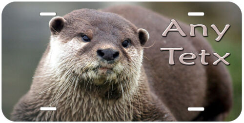 Otter Any Text Personalized Novelty Car Auto Aluminum License Plate