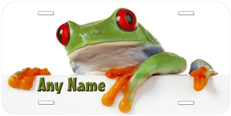 Red Eye Frog Personalized Any Name Novelty Car License Plate